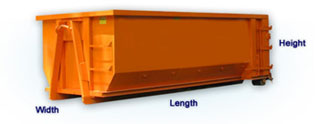 dumpster dimensions for Cityn dumpster rentals